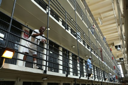 A cellblock at San Quentin.